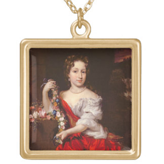 Portrait of a Young Lady (oil on canvas) Necklaces