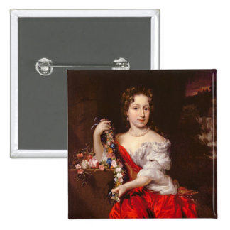 Portrait of a Young Lady (oil on canvas) Pinback Button
