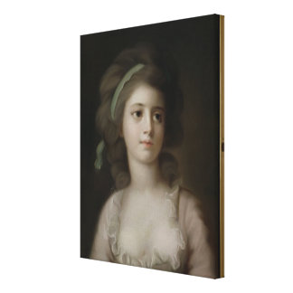 Portrait of a Young Lady (pastel on paper) Canvas Print