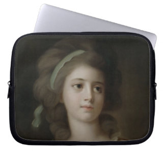 Portrait of a Young Lady (pastel on paper) Computer Sleeve