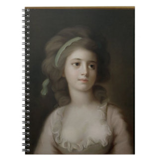 Portrait of a Young Lady (pastel on paper) Notebook