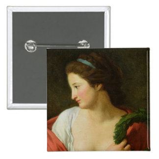 Portrait of a Young Lady Pinback Button