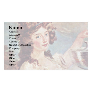 Portrait Of A Young Lady With Goldfish Double-Sided Standard Business Cards (Pack Of 100)