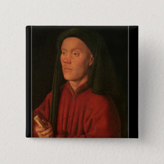 Portrait of a Young Man, 1432 Pinback Button