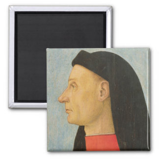 Portrait of a Young Man 2 Inch Square Magnet