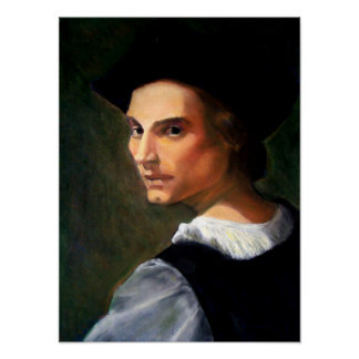 PORTRAIT OF A YOUNG MAN AFTER DEL SARTO POSTER