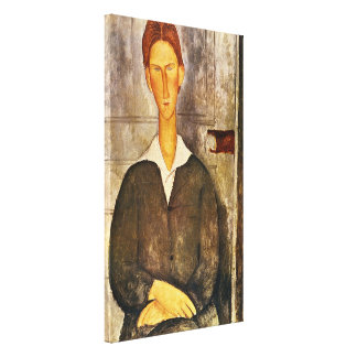 Portrait of a Young Man - Amedeo Modigliani Canvas Print