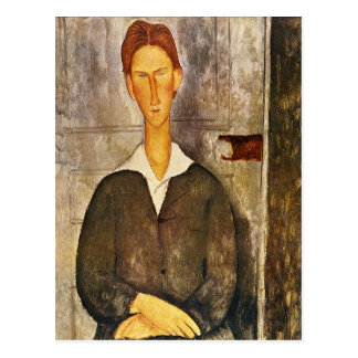 Portrait of a Young Man - Amedeo Modigliani Postcard