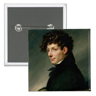 Portrait of a Young Man as a Hunter, 1811 2 Inch Square Button