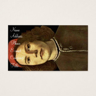 'Portrait of a Young Man' Business Card