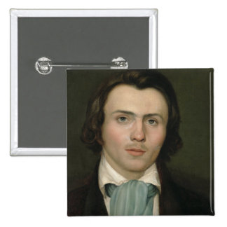 Portrait of a young man 2 inch square button