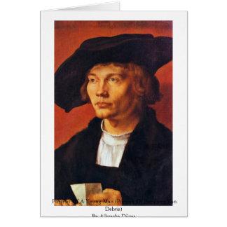Portrait Of A Young Man By Albrecht Dürer Greeting Card