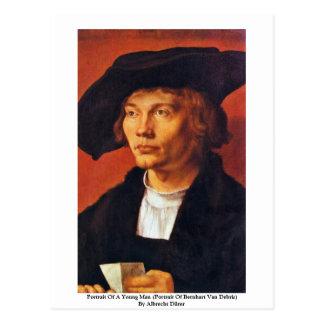 Portrait Of A Young Man By Albrecht Dürer Postcard