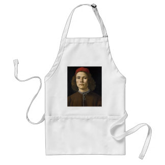 Portrait of a Young Man by Botticelli Adult Apron