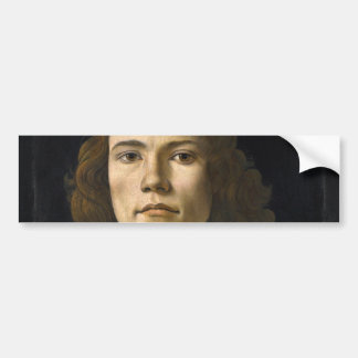 Portrait of a Young Man by Botticelli Bumper Sticker
