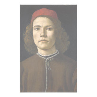 Portrait of a Young Man by Botticelli Stationery