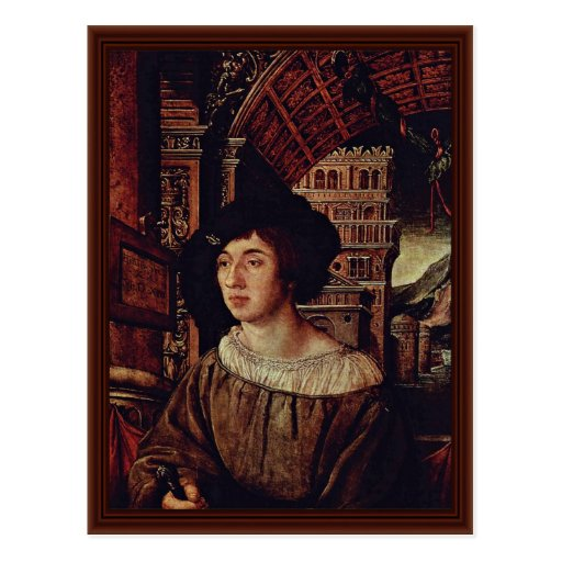 Portrait Of A Young Man By Holbein Ambrosius Post Cards