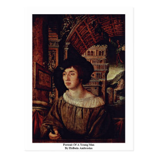 Portrait Of A Young Man By Holbein Ambrosius Postcard