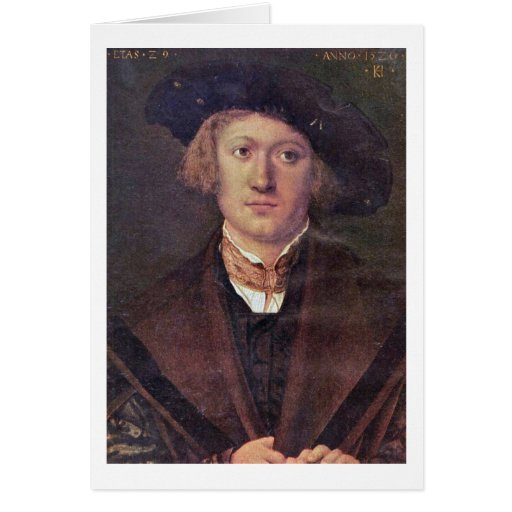Portrait Of A Young Man By Kulmbach Hans Suss Of Greeting Card