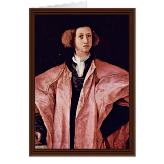 Portrait Of A Young Man By Pontormo Jacopo Best Q Cards