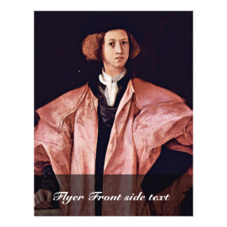 Portrait Of A Young Man By Pontormo Jacopo Best Q Custom Flyer