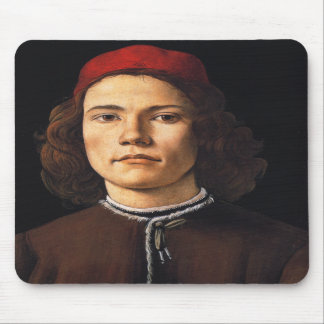 Portrait of a Young Man by Sandro Botticelli Mousepad
