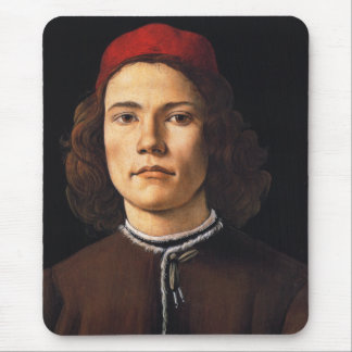 Portrait of a Young Man by Sandro Botticelli Mouse Pad