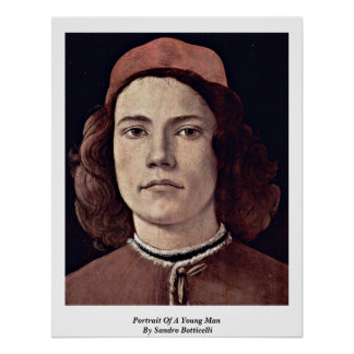 Portrait Of A Young Man By Sandro Botticelli Print