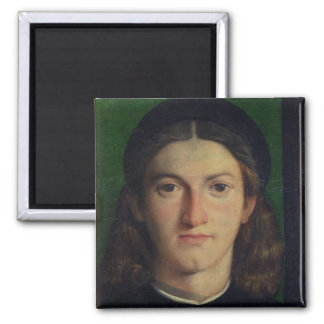 Portrait of a Young Man, c.1505 (oil on panel) 2 Inch Square Magnet