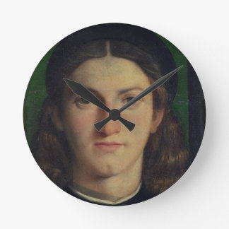 Portrait of a Young Man, c.1505 (oil on panel) Round Clock