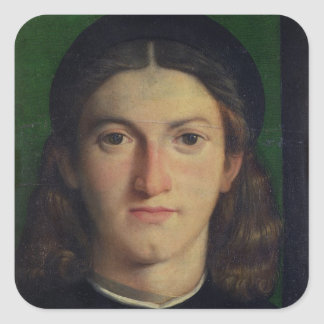 Portrait of a Young Man, c.1505 (oil on panel) Square Sticker