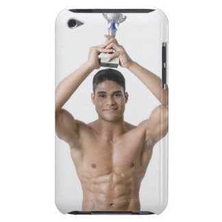 Portrait of a young man holding a trophy iPod touch Case-Mate case