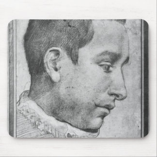 Portrait of a young man mouse pad