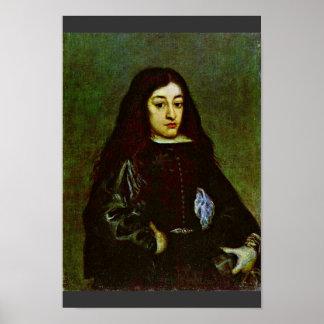 Portrait Of A Young Man Of A Don Juan Jose De Aust Posters