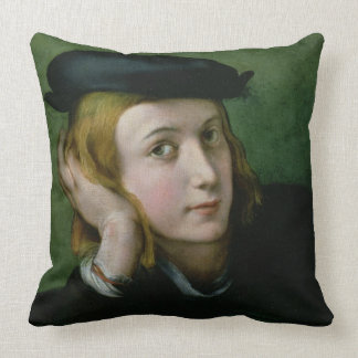 Portrait of a Young Man (oil on panel) Throw Pillow