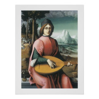 Portrait of a Young Man with a Lute Poster