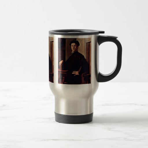 Portrait Of A Young Man With Book 15 Oz Stainless Steel Travel Mug