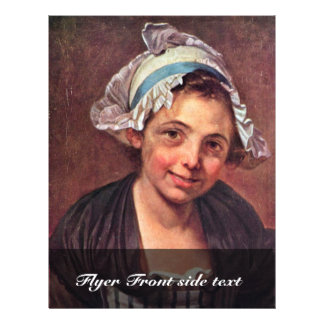 """Portrait Of A Young Peasant Girl By Greuze Jean-Ba 8.5"""" X 11"""" Flyer"""