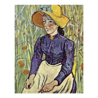 Portrait Of A Young Peasant Girl By Vincent Van Go Flyer