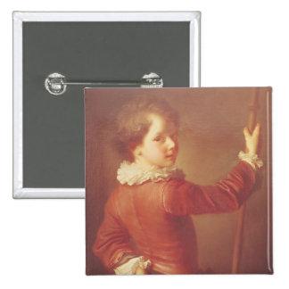 Portrait of a Young Pilgrim, 1725 Button