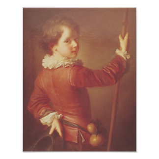 Portrait of a Young Pilgrim, 1725 Poster