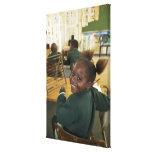 Portrait of a young schoolgirl smiling, KwaZulu Canvas Prints