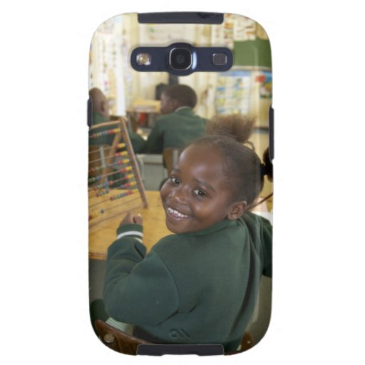 Portrait of a young schoolgirl smiling, KwaZulu Samsung Galaxy S3 Covers