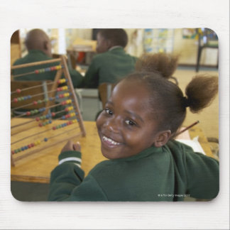 Portrait of a young schoolgirl smiling, KwaZulu Mouse Pad