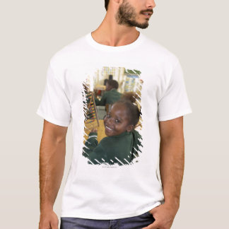Portrait of a young schoolgirl smiling, KwaZulu T-Shirt