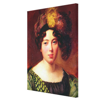 Portrait of a Young Scottish Woman Canvas Print