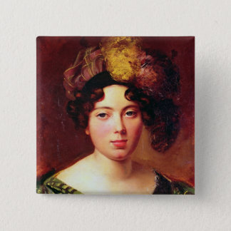 Portrait of a Young Scottish Woman Pinback Button