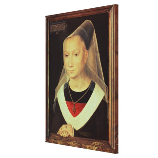Portrait of a Young Woman, 1480 Canvas Print