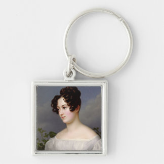 Portrait of a Young Woman, 1827 (oil on canvas) Keychain