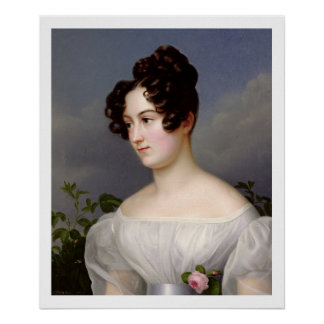 Portrait of a Young Woman, 1827 (oil on canvas) Poster